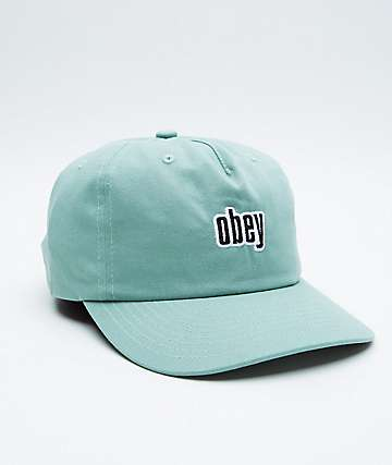 Obey Highland Mint Strapback Hat