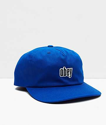 Obey Highland Royal Blue Strapback Hat