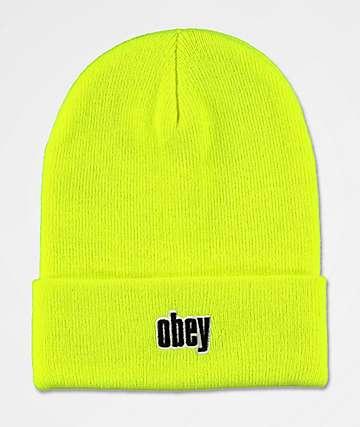 Obey Highlander Safety gorro verde