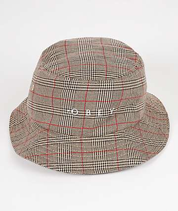 Obey Holmes Khaki Plaid Bucket Hat