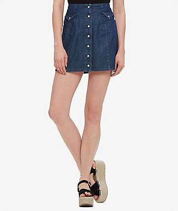 Obey Hudson Denim Skirt