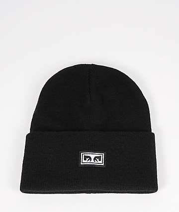 Obey Icon Eyes Black Beanie