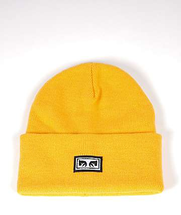 Obey Icon Eyes Gold Beanie