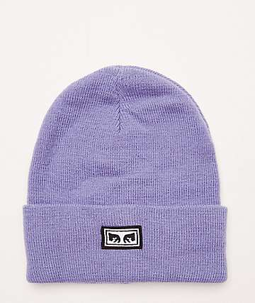 Obey Icon Eyes Lavender Beanie