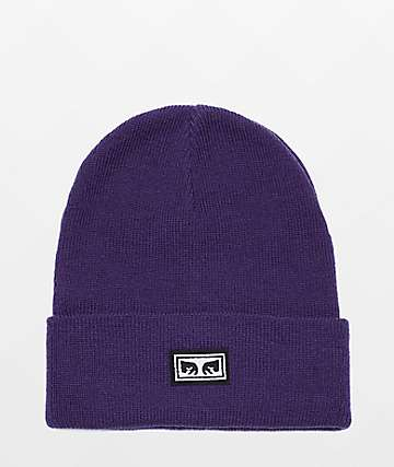 Obey Icon Eyes Loganberry Beanie