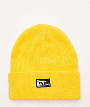Obey Icon Eyes Yellow Beanie