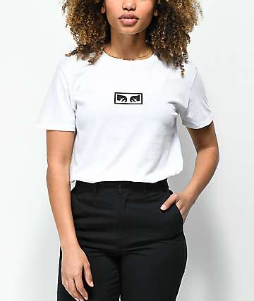 Obey Icon Eyes camiseta blanca