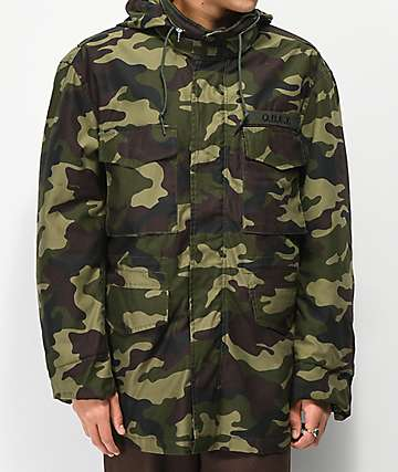 Obey Iggy chaqueta aislada de camuflaje