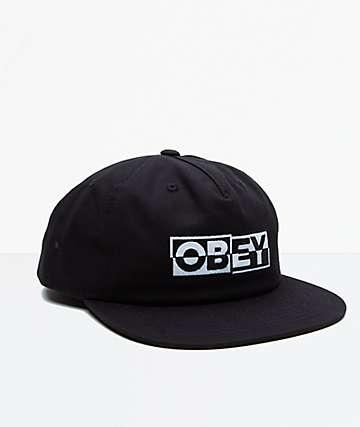 Obey Impact Black Snapback Hat