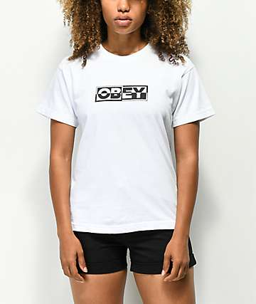 Obey Inside Out 2 Box White T-Shirt