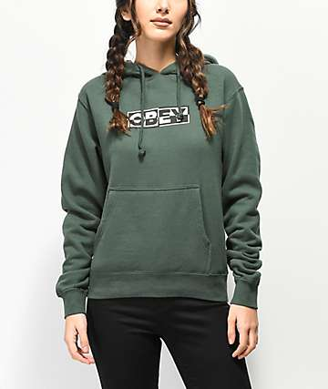 Obey Inside Out 4 sudadera con capucha verde
