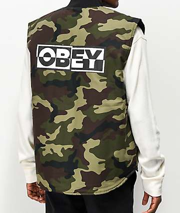 Obey Inside Out III Camo Vest