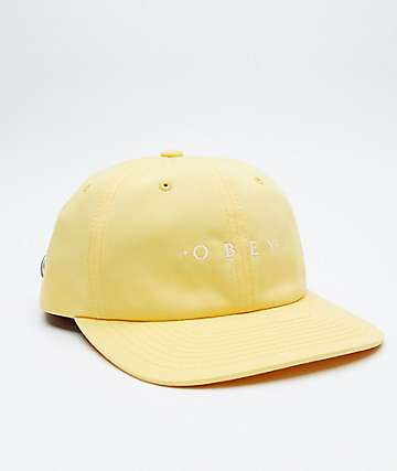 Obey Intention Yellow Strapback Hat