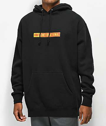 Obey International 2 Black Hoodie