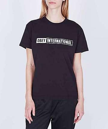 Obey International 2 Custom Box Black T-Shirt