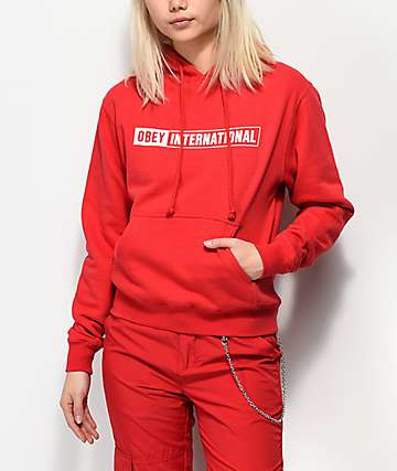 Obey International 2 Red Hoodie