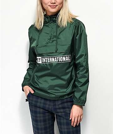 Obey International 2 chaqueta anorak verde