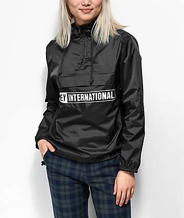 Obey International Black Anorak Jacket