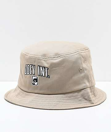 Obey International Khaki Bucket Hat
