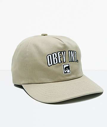 Obey International Khaki Strapback Hat