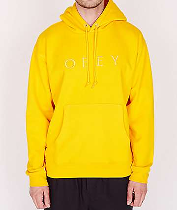 Obey Jodie Yellow Hoodie