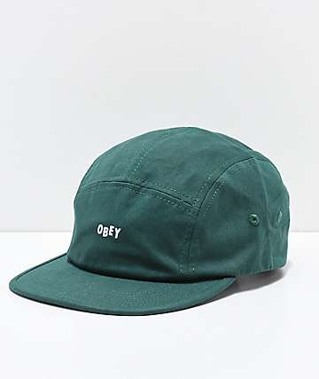 Obey Jumble Bar II Green Strapback Hat