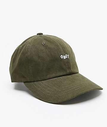 Obey Jumble Bar III Army Strapback Hat