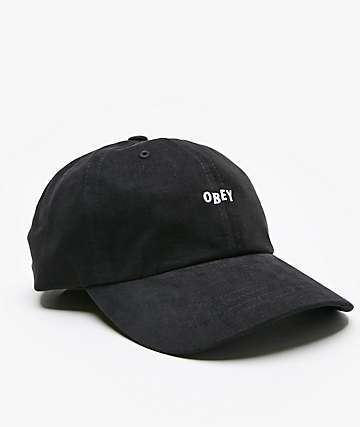 Obey Jumble Bar III Black 6 Panel Hat