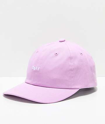 Obey Jumble Bar III Purple Strapback Hat
