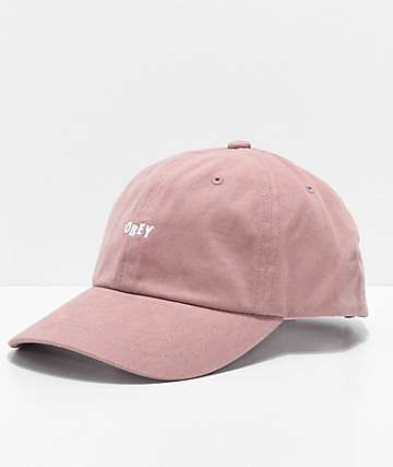 Obey Jumble Bar III Rose 6 Panel Hat