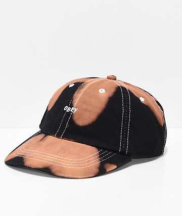 Obey Jumble Bleached Black Strapback Hat