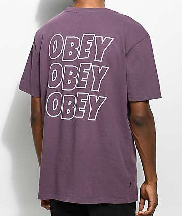 Obey Jumble Lo-Fi Dusty Eggplant T-Shirt