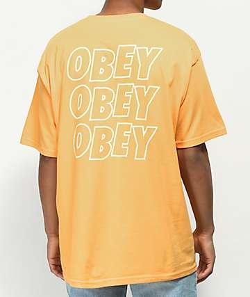 Obey Jumble Lo-Fi Gold T-Shirt