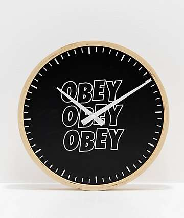 Obey Jumble Stacks Clock