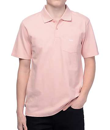 Obey Jumble camiseta polo en color rosa