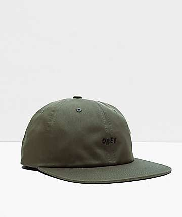 Obey Jumbled Army Green Snapback Hat