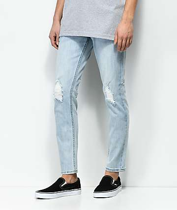 Obey Juvee II Bleach Indigo jeans de mezclilla con rasgadas
