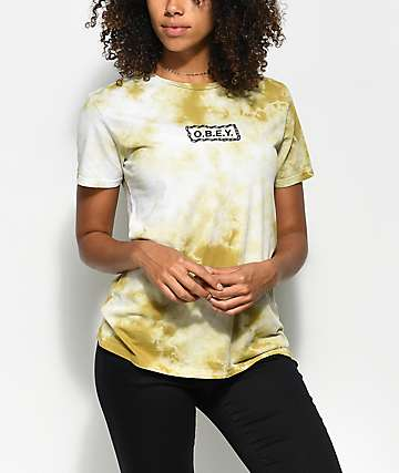 Obey Labour Of Love Avocado Tie Dye T-Shirt