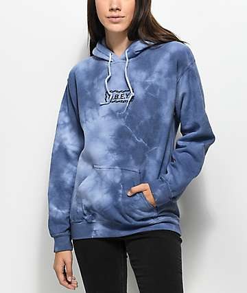 Obey Labour Of Love Chain Navy Tie Dye Hoodie