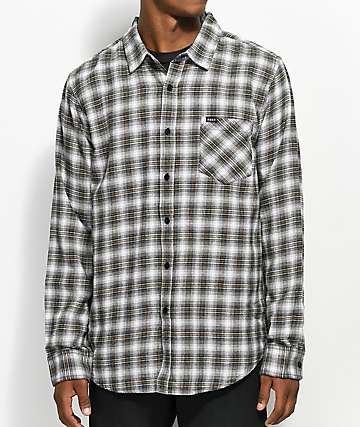 Obey Langston Black, Grey & Gold Flannel Shirt