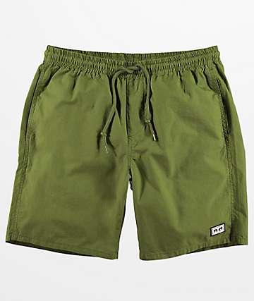 Obey Legacy III shorts verde militar