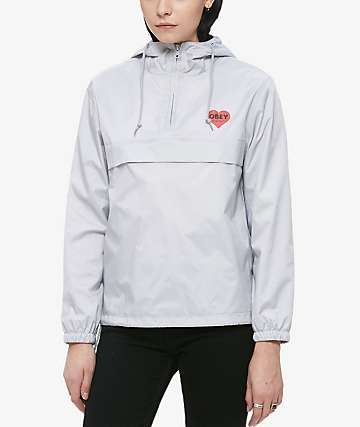 Obey Lonely Hearts Silver Jacket