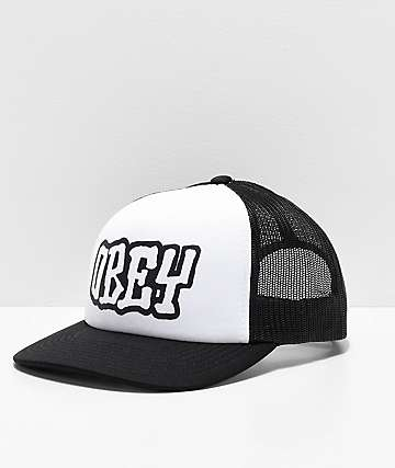7e29dd04090 Obey Loot Black   White Trucker Hat