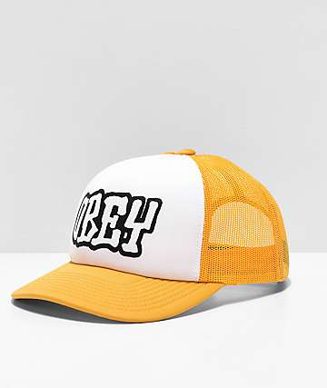 Obey Loot Yellow & White Trucker Hat