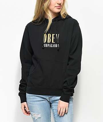 Obey Main Street Dusty Black Hoodie