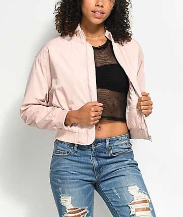 Obey Mako Pink Bomber Jacket
