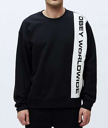 Obey Melody Black & White Crew Neck Sweatshirt