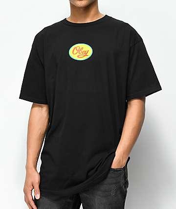 Obey Menden Hall Script 2 Black T-Shirt