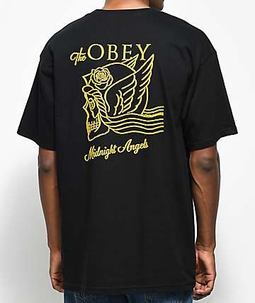 Obey Midnight Angels Black T-Shirt