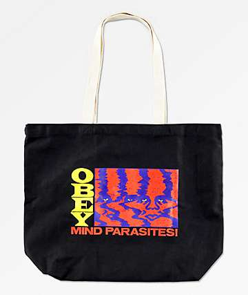 Obey Mind Parasites Black Tote Bag